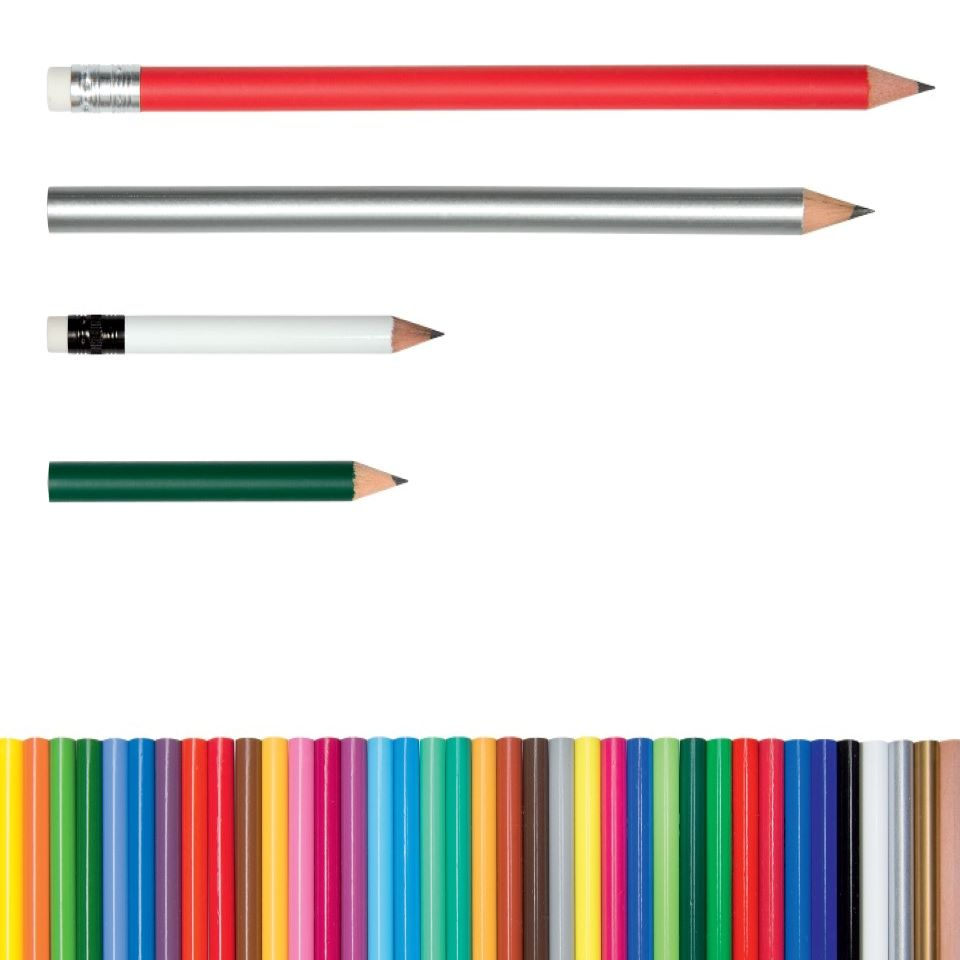 Bleistifte farbig lackiert